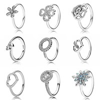 Hearts Of Halo Clover Ring With Crystal 925 Sterling Silver Signature Ring For Women Wedding Gift DIY Pandora Jewelry