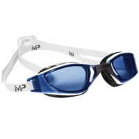 MP Michael Phelps XCEED White Black Swim Goggles / Clear Blue Lenses