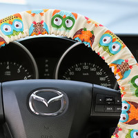 Steering Wheel Cover Bow Wheel Car Accessories Lilly Heated For Girls Interior Aztec Monogram Tribal Camo Cheetah Sterling Chevron Big Owls