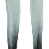 Hair Extension White Black Fad