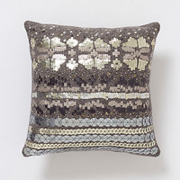 Sequined Fairisle Pillow, Square