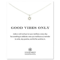 good vibes only radiant sun necklace, sterling silver