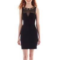 jcpenney   Love Reigns Sleeveless Embellished Illusion Dress