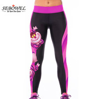 SEBOWEL Charactre Print Fashion Leggings Fitness Women Leggins Jeggings Clothes Women Global Free Shipping
