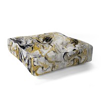 Jacqueline Maldonado Black and Gold Marble Floor Pillow Square