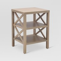 Owings End Table with 2 Shelves - Threshold™