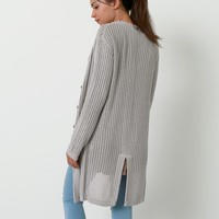 Done Right Knit Cardigan - Gray
