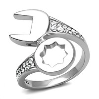Mens Wedding Rings TK3097 Stainless Steel Ring with AAA Grade CZ