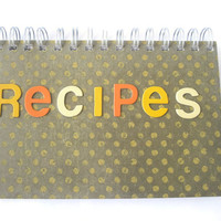 Stationary Recipes note book retro style american diner Hand Made Spiral Bound Note Book journal jottings gifts for teens Office school