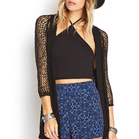 FOREVER 21 Pleated Baroque Shorts Navy/Black