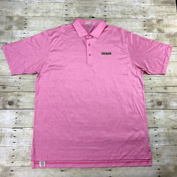 Peter Millar Pink EZGO Golf Polo Shirt Mens Size XXL