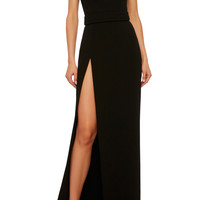 Heavy Georgette Fold Over Gown | Moda Operandi
