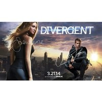Divergent Movie Tie-in Edition by Veronica Roth (Paperback + Signed Poster)