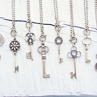 Pick Your key Necklace - Each Key Holds a Treasure