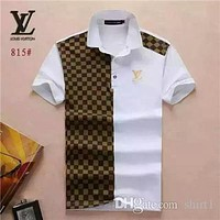 Hot New Brand Designer Box Logo Men's Casual Fashion T-shirt Medusa Cotton Polo Shirt High Street Collar Short Sleeve Luxury T-Shirt 13-LV