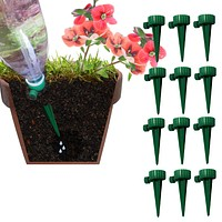 Evelots Plant/Flower Watering Spikes-New & Improved-Valve-Bottle Screw