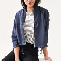 Silence + Noise Zoey K.O. Shorty Bomber Jacket - Urban Outfitters