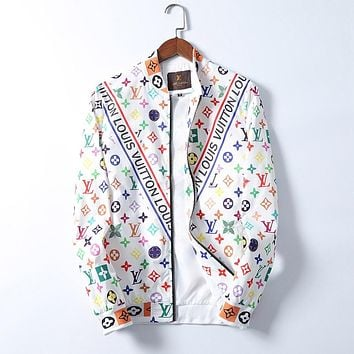 LV Louis Vuitton Fashion Casual Loose Hooded Cardigan Jacket Coat