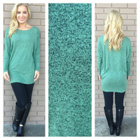 Mint Speckled Sinclair Modal Tunic Top