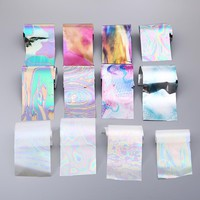 12 Different Color Broken Glass Starry Nail Foils 4*20cm*12 colorful Nail Art Sticker Decals Fashion Shinning DIY Beauty Tool