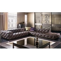 Italian Leather Sectional Sofa For Living Room