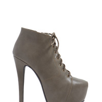 Going Up Lace-Up Booties