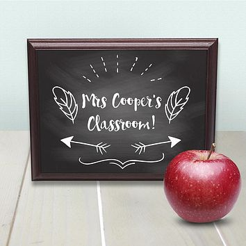 Teacher Gifts Personalised Teacher's Classroom Sign