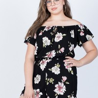Plus Size Floral Nights Romper