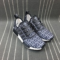 Adidas Boost Nmd Fendi x R1 Women Men Fashion Trending Running Sports Shoes
