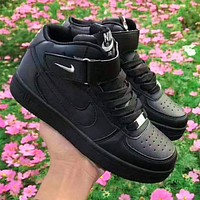 Wearwinds Nike AF1 Air Force 1 One Sneakers high-top casual shoes black