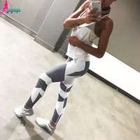 Goodbuy 2016 Women's Leggings Patchwork Fitness American UAE Legging Jeggings Work Out Cotton Women Lady Pants Elastic Leggins