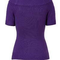 Michael Kors - Cashmere Boat-Neck Pullover in Grape