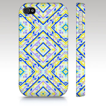 Colorful tribal iPhone case, iPhone 4s case, iPhone 5 case, geometric tribal aztec ethnic pattern design, art for your phone