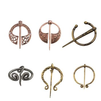 Vintage Wulflund Belt Buckles Viking Brooch Cloak Pin Clasp Hand Forged Medieval Norse Runic Viking Jewelry for Men Women