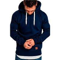 Mens Hoodies Fashion Top Sweater Pullover Sweatshirt
