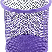 VIP Home Essentials Compact Room Saving Mesh Office & Home Desk or Counter Pencil Cup, Purple