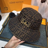 Fendi simple double F letter fisherman hat