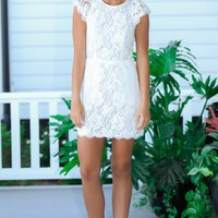 Love Leads White Lace Dress
