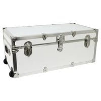 Mercury Modern Footlocker Storage Trunk with Wheels