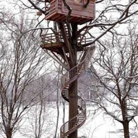 Treetop Treehouse with Spiral Stairs-FOLLOW ME N EJOY<3