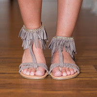 Here Comes the Sun Taupe Sandals
