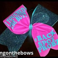 I TOUCHED THE BUTT CHEER BOW