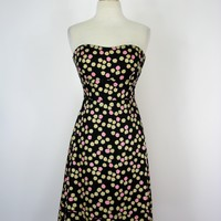 J Crew Silk Abstract Printed Strapless Fit & Flare Dress 0