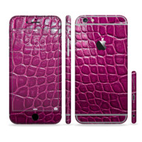 The Bright Magenta Alligator Skin For The iPhone 6+