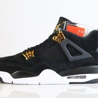 BC HCXX Nike Air Jordan Retro 4 Royalty Black Metallic Gold 308497-032 2017 Adult and GS 3.5y-15