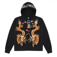 Indie Designs Dragon and UFO Embroidery Hoodie