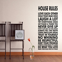 House Rules Vinyl Wall Decal Sticker We Do Art Vinyl Poster Print Sign for Living Dining Room Decals