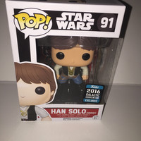 2016 Pop Star Wars 91 Han Solo Ceremony Funko Galactic Convention New with Box