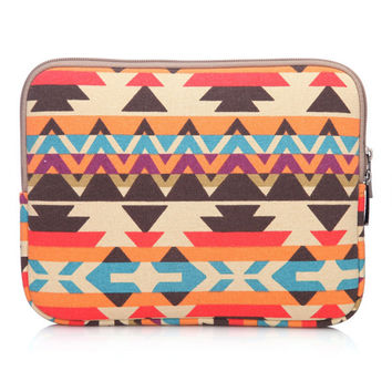 Ethnic  Notebook Sleeve Bag Case for iPad Macbook 10 11 12 13 15  Samsung Laptop