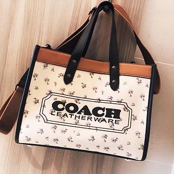 COACH Fashion Women Canvas Shoulder Bag Handbag Tote Satchel Wallet Purse Set Two Piece
